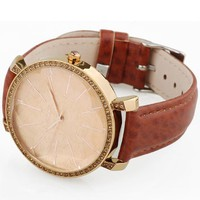 Candy Color PU Belt Watch