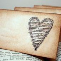 Shabby Chic Heart Place Cards SET of 50Vintage by craftypagan