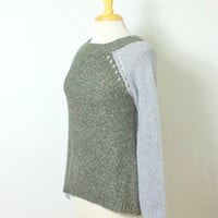 Revival Iowa City — Love Stitch Two Tone Knit Pullover Sweater