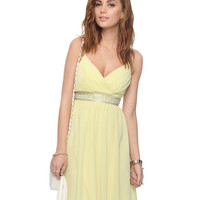 Pleated Beaded Empire Waist <br>Dress | FOREVER21 - 2000042468