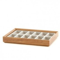 Wooden Jewelry Tray - 12 Compartments