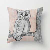 Who Gives a Hoot? Throw Pillow by Sandy Moulder