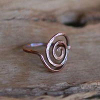 Simple Swirl Copper Artisan Ring by NeroliHandmade on Etsy
