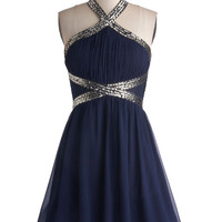 ModCloth Mid-length Halter A-line Fond of Formal Dress