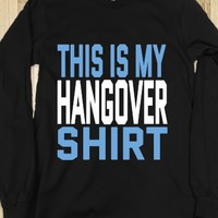THIS IS MY HANGOVER DARK SHIRT LONG SLEEVE TEE (BLUE WHITE ICL22)