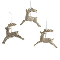Dashing Reindeer Ornaments - Set of 3