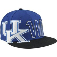 NCAA '47 Brand Kentucky Wildcats Script Big Time Snapback Hat - Royal Blue/Black