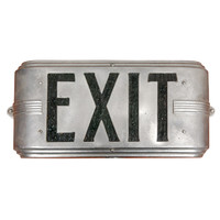Hollywood Deco Interior Exit Sign