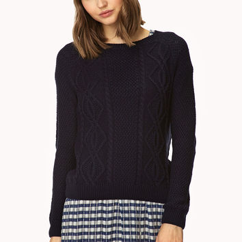 Favorite Cable Knit Sweater