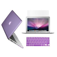 TopCase 15-Inch Macbook Pro A1398 with Retina Display 3-in-1 Bundle Crystal Purple Hard Case Cover with Matching Color Soft Silicone Keyboard Cover,LCD HD Clear Screen Protector (LATEST VERSION / No DVD Drive / Release June 2012) and TopCase Mouse Pad