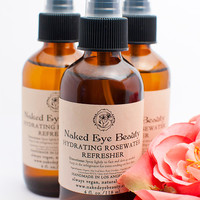 Hydrating Rosewater Refresher Organic 4 oz. Toner All Natural Aloe