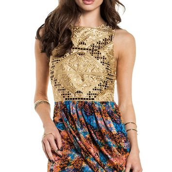 DailyLook Women's, Three Of Something Passion In The Water Dress