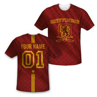 Exclusive Personalized Gryffindor Crest Youth Quidditch Jersey |