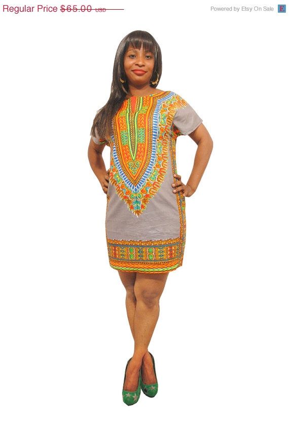 Xmas sale dashiki dress african print from kwanzainspiratione