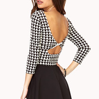 Geo Darling Cutout Crop Top