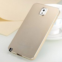 Luxury Ultra-thin Aluminum Case Cover For Samsung Galaxy note III 3 N9000 (All champagne)