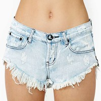 One Teaspoon Bonitas Cutoff Shorts - Bleach