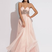 2014 Fashionable Empire Sweetheart Beaded Chiffon Pink Prom Dress with Zipper Style RAJN181,2014 Prom Dresses