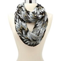 OPEN KNIT CHEVRON INFINITY SCARF
