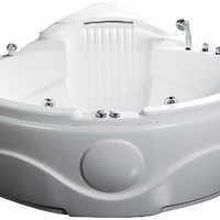 EAGO AM505 61-Inch Rounded Corner Waterfall Whirlpool Bath Tub