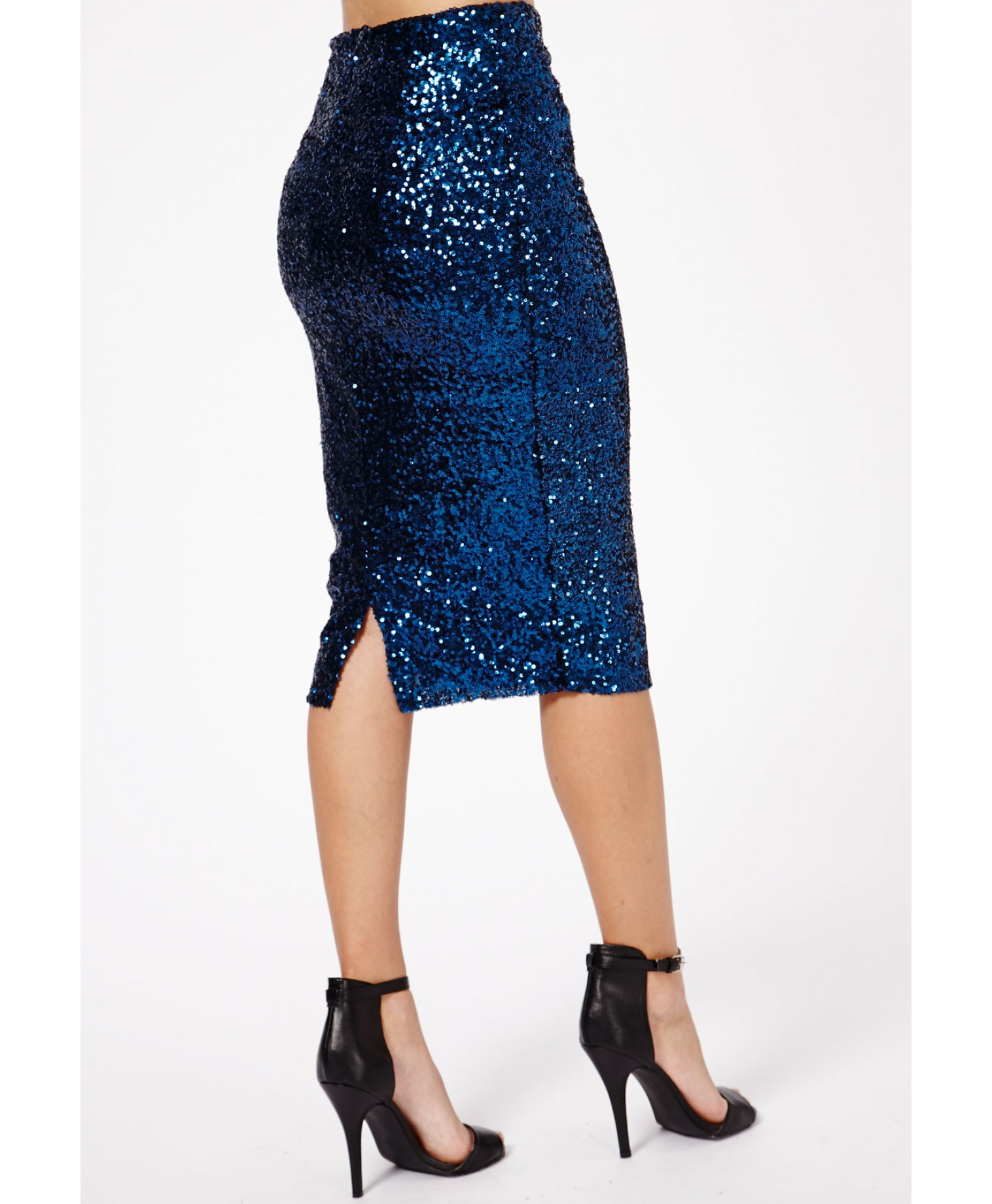 missguided achima sequin midi skirt in from missguided