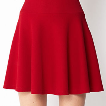 LOVE 21 Textured Skater Skirt