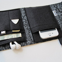 Nerd Herder gadget wallet in Some Like it Dark- iPhone, Android, iPod, guitar picks, digital camera, earbuds