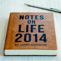 Notes on Life 2014: Personalised Leather Journal