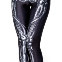Mechanical Bones Black Leggings