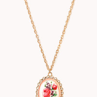 Heirloom Floral Locket Necklace