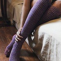 Free People Womens Hand Knit Marl Thigh Hi