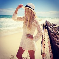 Free People Free People Commemorative Bell Sleeve Dress