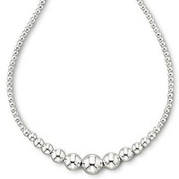 JCPenney : Sterling Silver Graduated Bead Necklace