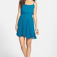 Liberty Love Pleat Skater Dress (Juniors)