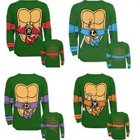 Teenage Mutant Ninja Turtles Long Sleeves Costume T-shirt & Eye Mask