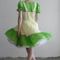 princess and the pea green dress by VeraVague on Etsy