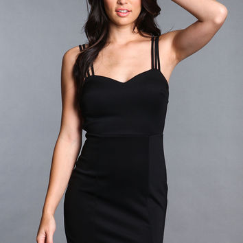 STRAPPY RACERBACK BLACK DRESS