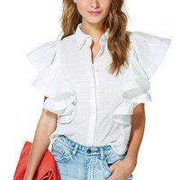 Resort Lifestyle Ruffle Blouse
