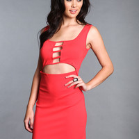 LATTICE CUT OUT DRESS