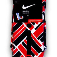 Air Jordan 4 Retro Fire Red Nike Custom Elite Socks | CustomizeEliteSocks.com™