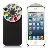 Cyrs Funny Special Lens and Filter Turret Camera Phone Case for Apple Iphone 5