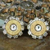 Bullet Earrings, Bullet Jewelry, Birthstone Earrings, Birthstone Jewelry, Outlaw Glam