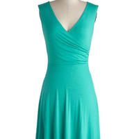 Cheers to You Dress in Turquoise | Mod Retro Vintage Dresses | ModCloth.com