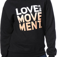 TWLOHA Movement Ombre Black Crew Neck Sweatshirt