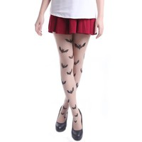 Sexy Fashion Design Pattern Pantyhose Stockings Tights - by HDE (Bats)
