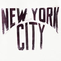 The New York New York Crop Top in White
