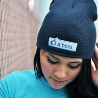 Like A Boss Thumbs Up Beanie | SnorgTees