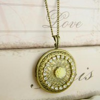 Solid Perfume Locket Necklace, Locket Necklace, Perfume Necklace