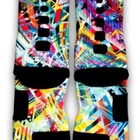 LeBron X What The MVP Nike Custom Elite Socks | CustomizeEliteSocks.com™