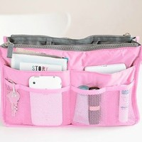Large-capacity portable storage bag (pink)
